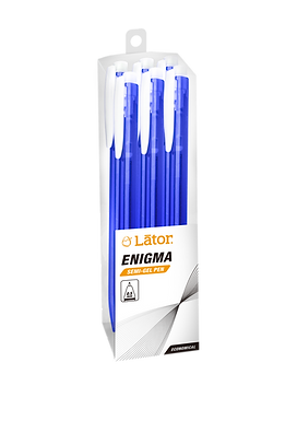 Lator Retratable Semi Gel Pen - Enigma - 0.5mm- Blue