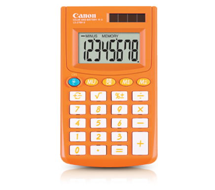 Canon Calculator LS 270 II (AUTUMN ORANGE)