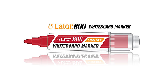 Lator Refillable Whiteboard Marker L800 Red- 1pc