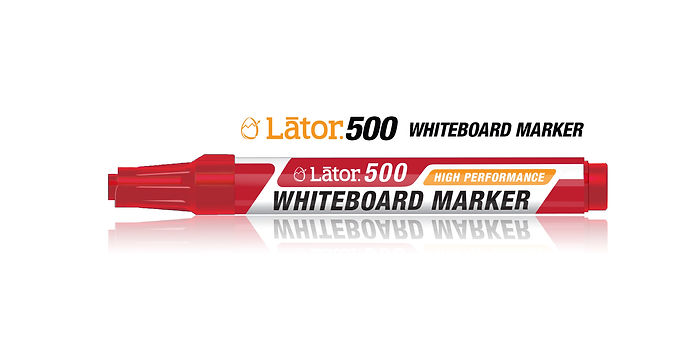 Lator Whiteboard Marker 500 Red -1pc