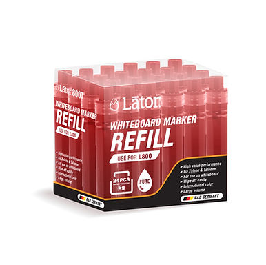 Lator Whiteboard Refill L800T Red- Value Pack 24's