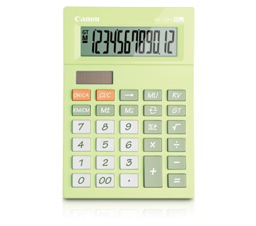 Canon Calculator AS- 120 V (LIME GREEN)