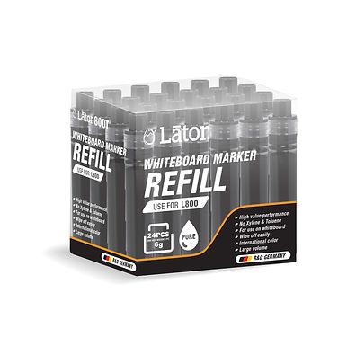 Lator Whiteboard Refill L800T Black- Value Pack 24's