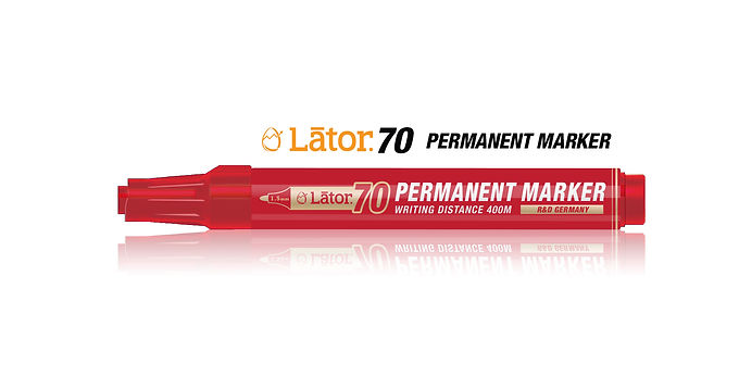 Lator Permanent Marker 70 Red- 1pc