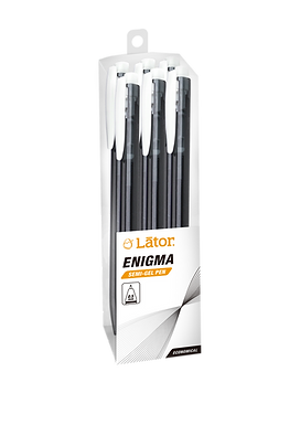 Lator Retratable Semi Gel Pen - Enigma- 0.5mm -Black