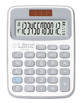 Lator Checkback Calculator 12 Digits-LS812R