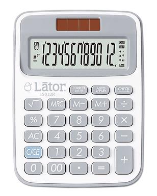 Lator Checkback Calculator 12 Digits-LS812R