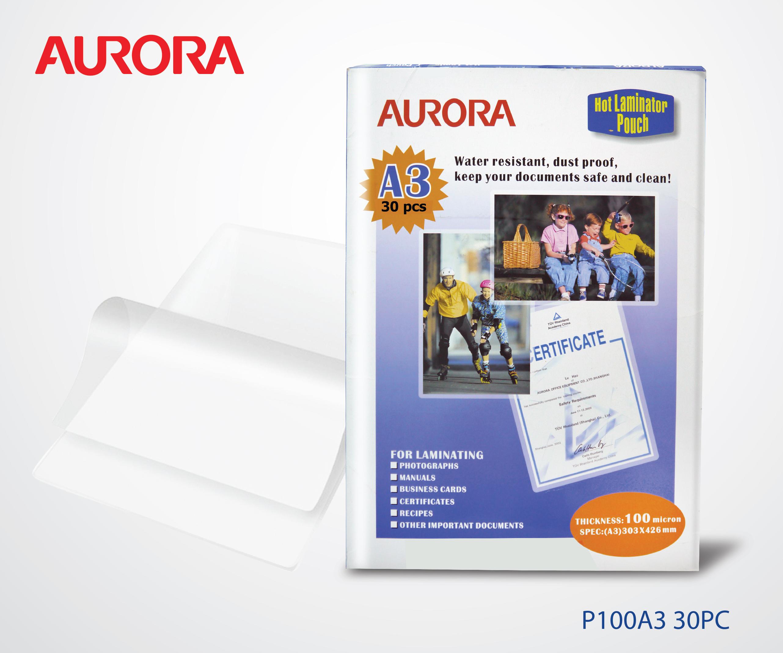 Aurora Laminator Film_P100A3 30PC-21