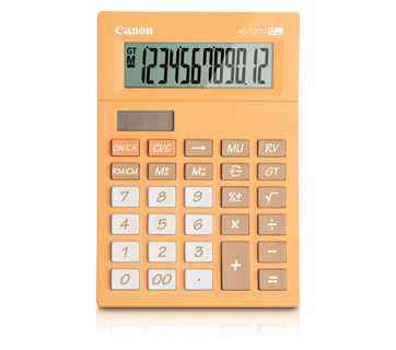 Canon Calculator AS -120 V (ORANGE)