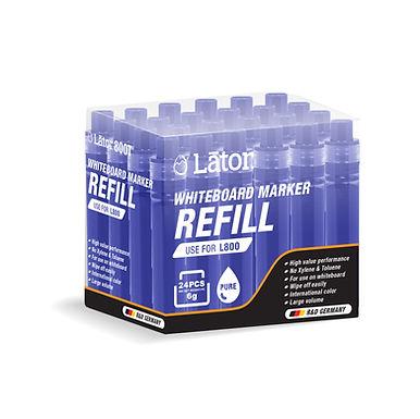 Lator Whiteboard Refill L800T Blue- Value Pack 24's