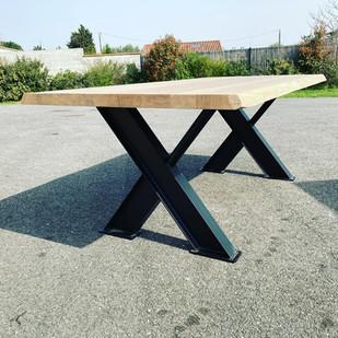 Table bois/fer design