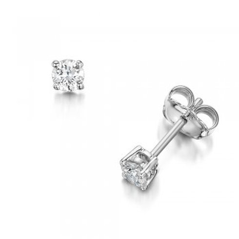 Small Diamond Stud Earrings 18ct