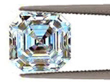 0.90ct Asher Cut Diamond Treated 5.35mm by 5.25mm
