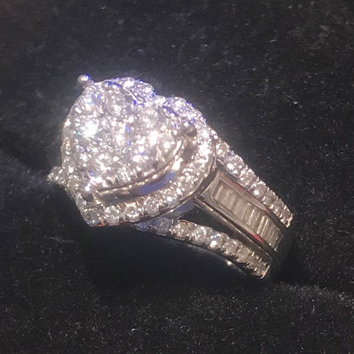 1ct Diamond Ring , White gold