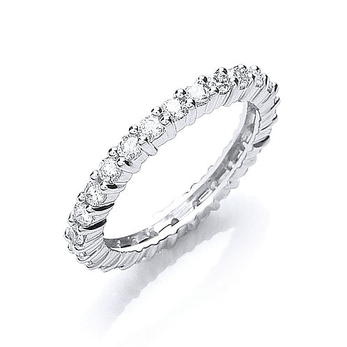 Classic Full Hoop Ring 1ct 18ct white gold