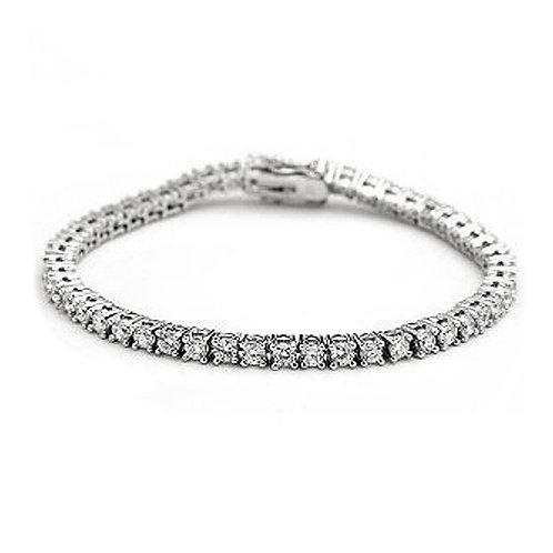 Silver Classic Cubic Zirconia Tennis Bracelet