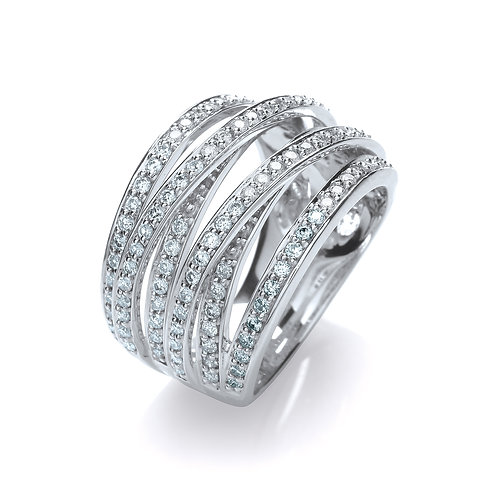 Fancy Diamond Ring 18ct white gold