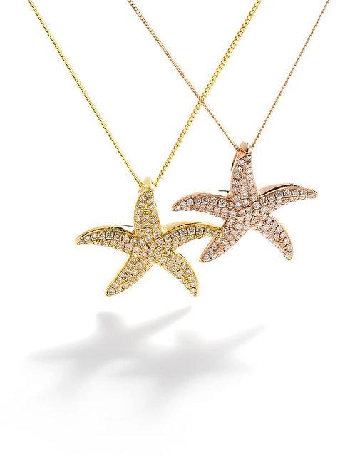Starfish Diamond Necklace (m)