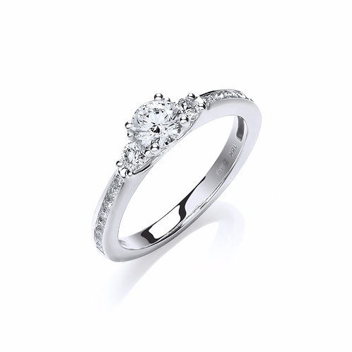 Fancy Trilogy Ring 0.69ct18ct white gold