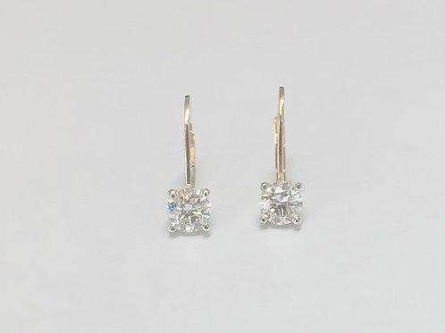 1ct Diamond Ear Wires