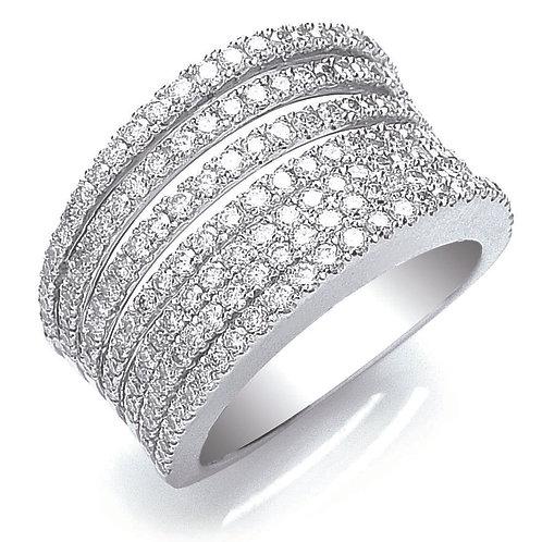 Fancy Diamond Ring 18ct white gold