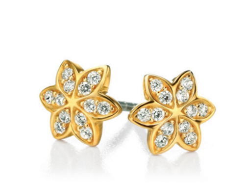 SILVER GOLD PLATED FLOWER EARRINGS