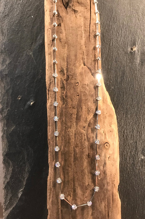 Diamond line necklace.