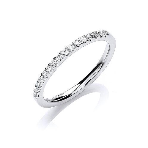 Diamond Band 0.15cts 18ct white gold