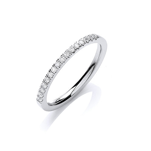 Diamond Band 0.12cts 18ct white gold