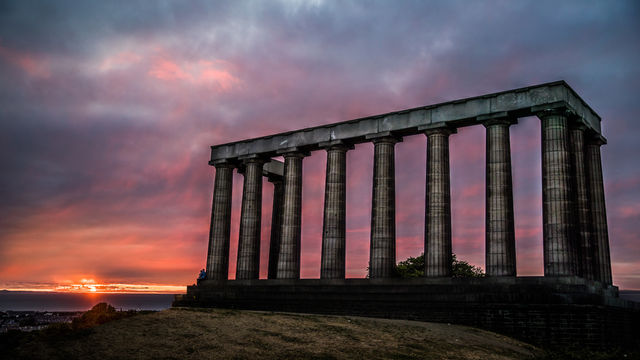 Calton Hill in Scotland