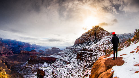 The Grand Canyon in the winter