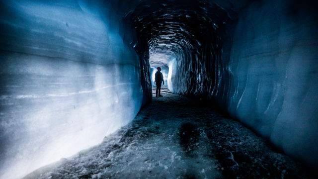 An ice cave in Iceland