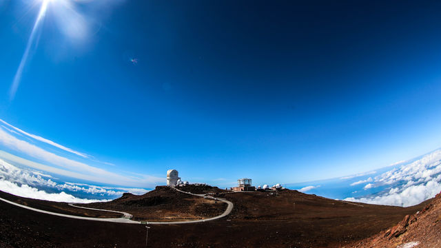 The Observatory on top of Maui, Hawaii