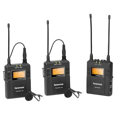 Saramonic UwMic9 microfone de lapela s/fios Kit (RX9+TX9+TX9)