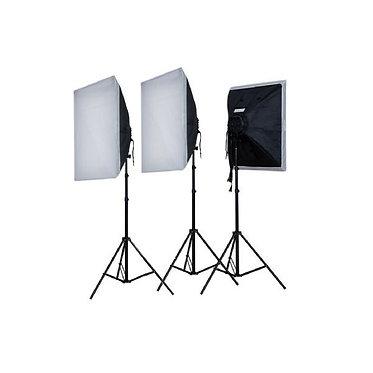 FALCON EYES Kit Daylight Softbox (3x 50W)