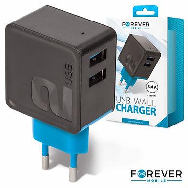 Forever Mobile Alimentador Comutado 2 USB