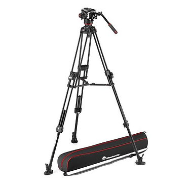 Manfrotto Kit Tripé  Video Twin Alumínio 645 + Cabeça 504X MS