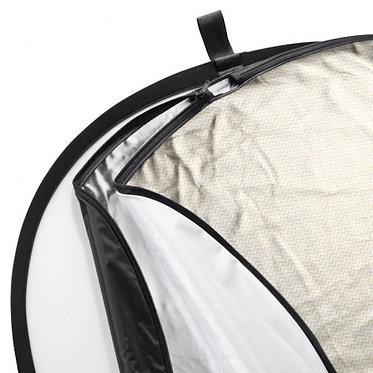 Walimex Reflector 5em1 Wavy oval 91x122cm