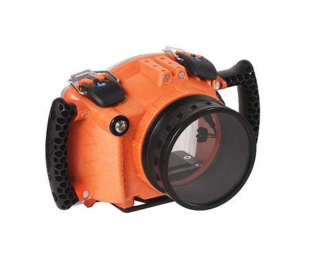 Aquatech EDGE Caixa Esquante p/ Fujifilm X-T4 - Laranja/Cinza