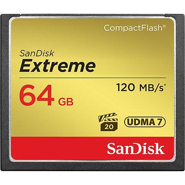SanDisk 64GB Extreme CompactFlash 120MB