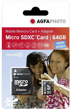 Agfaphoto Micro SDCX 64GB High Speed 100MB