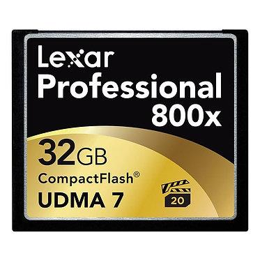 Lexar Cartão CompactFlash Professional 800x - 32GB