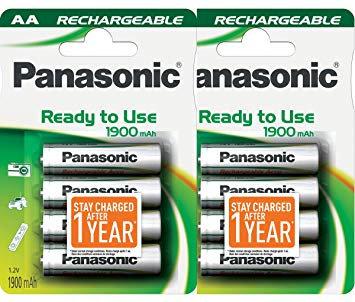 Panasonic AA 1900mha 2x