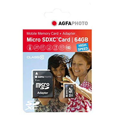 Agfaphoto Micro SDXC 64GB 45mb/s