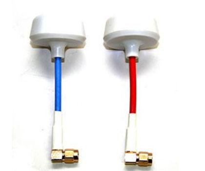 3D Robotics Conjunto Antena Cloverleaf com Protecç