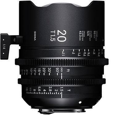 Sigma Cine 20mm T1.5