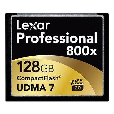 Lexar Cartão CompactFlash Professional 800x - 128G