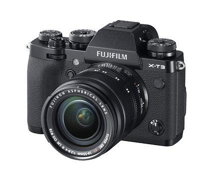 Fujifilm X-T3 Black + XF 18-55mm f 2.8/4 + XF 55-200mm - Black