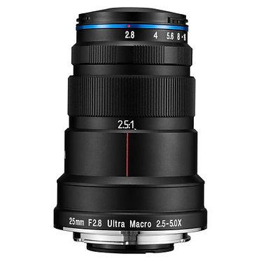 Laowa 25mm f/2.8 2.5-5X Ultra Macro para Nikon/Sony/Canon