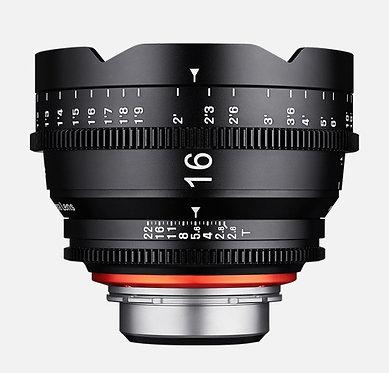 Samyng Xeen 16mm T2.6 Cine p/Canon